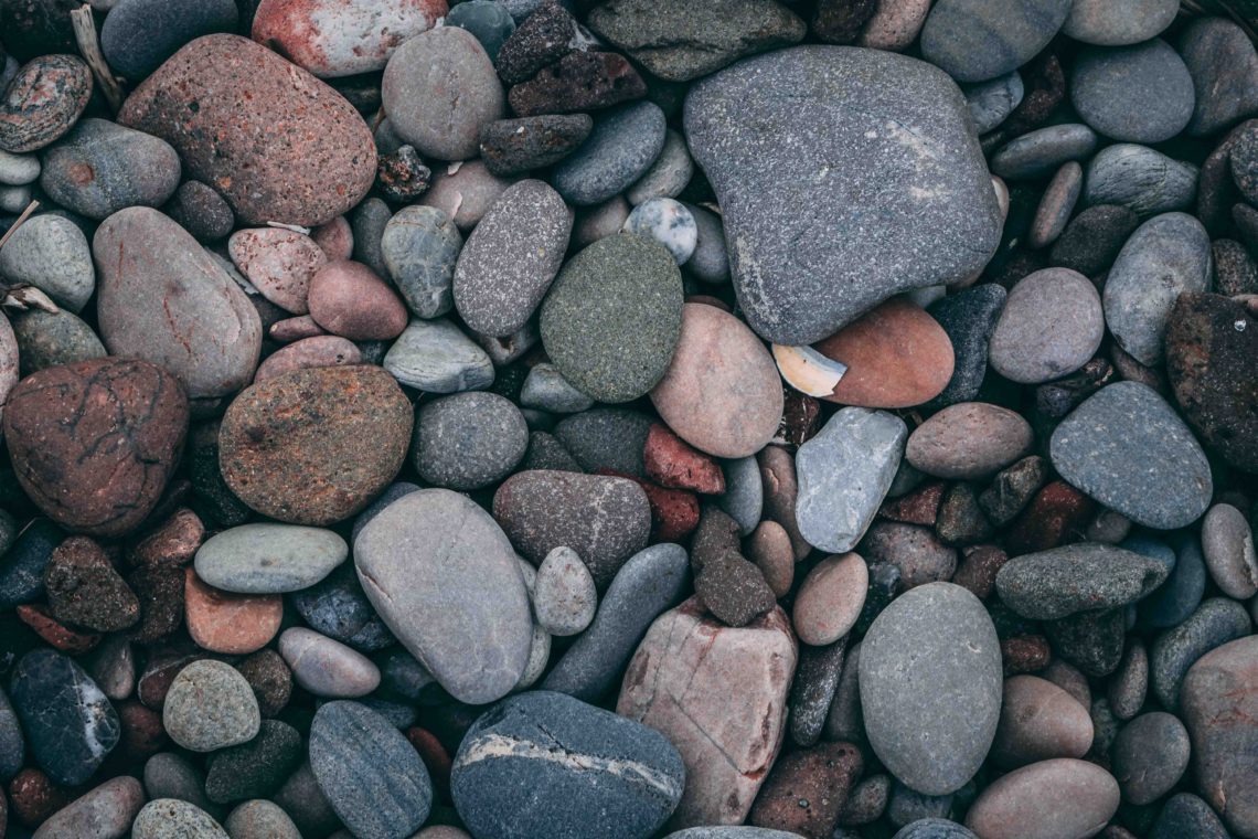 a bunch of pebbles of different sizes